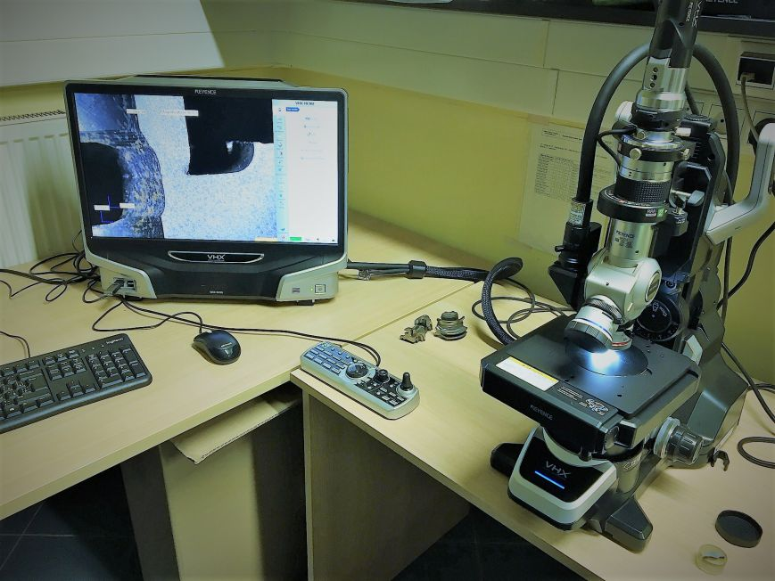 Microscope - for evaluation of microstructure, macrostructure, intercrystalline corrosion